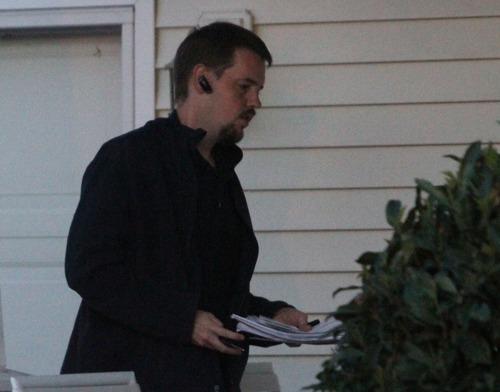 Rick Egan  | The Salt Lake Tribune  Joshua Powell returns to his home at 7:25 p.m. Friday.