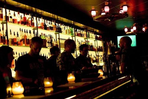 Djamila Grossman  |  The Salt Lake Tribune Bartenders make drinks behind the bar at Bar-X in downtown Salt Lake City.