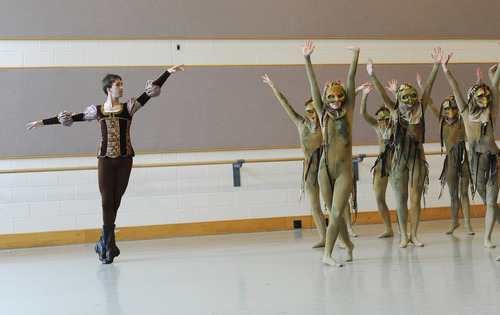 Sarah A. Miller  |  The Salt Lake Tribune file photo  David Riskin as Prince Ivan rehearses