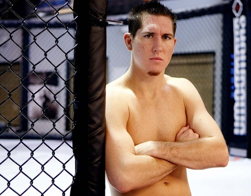 Trent Nelson  |  The Salt Lake Tribune  Fighter Steve Siler, who is competing on the Ultimate Fighter reality TV show, posed at The Pit Elevated in Orem Tuesday.