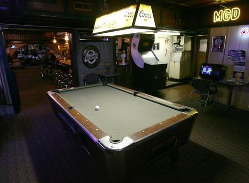 Steve Griffin     The Salt Lake Tribune A look inside the pool room at