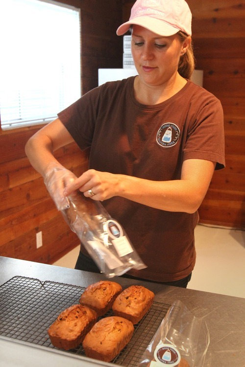 Rick Egan  | The Salt Lake Tribune  Angie Sutcliffe, the owner of GF Squared, makes gluten-free zucchini bread her home kitchen in Murray.