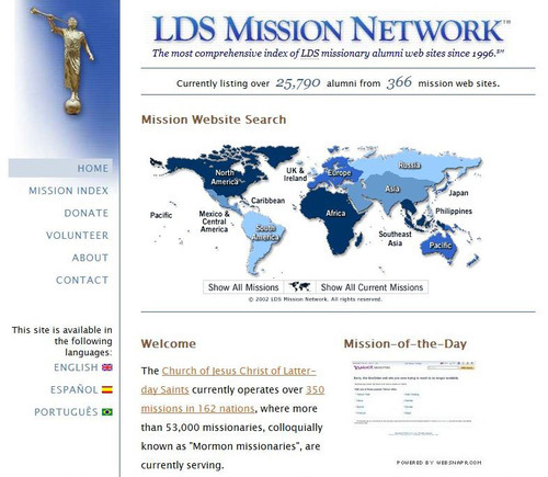 Online social networks are proliferating to help returned LDS missionaries keep in touch with each other. Courtesy image
