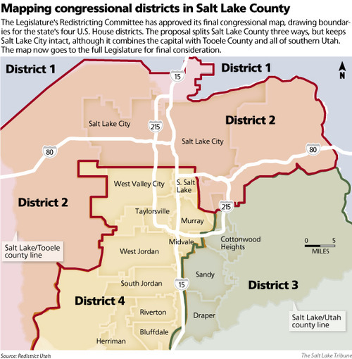 Favored Redistricting Map Splits Salt Lake County Three