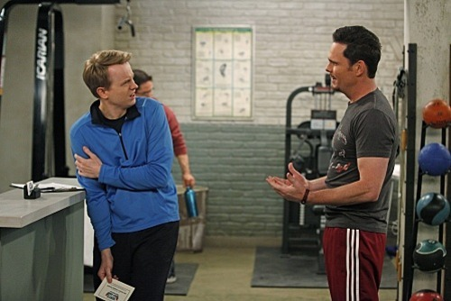 HOW TO BE A GENTLEMAN is a comedy about the unlikely friendship between a traditional, uptight columnist and an unrefined personal trainer. Kevin Dillon (right) portrays Bert Lansing, the infectiously optimistic owner of a fitness center and David Hornsby (left) plays Andrew Carlson, a genteel etiquette columnist. HOW TO BE A GENTLEMAN will premiere this Fall, Thursday Sept. 29 (8:30-9:00 PM ET/PT) on the CBS Television Network. Photo: Greg Gayne/CBS ©2011 CBS Broadcasting, Inc. All Right Reserved.