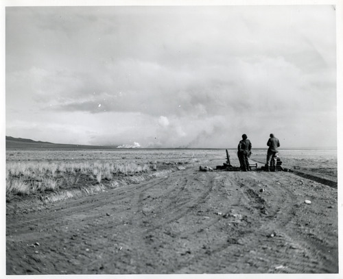 Tribune file photo  This undated photo shows weapons testing at Dugway Chemical Warfare Depot during WWII.