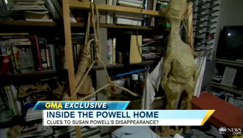 Courtesy Good Morning America In this image shot by Good Morning America, an item described as a hangmen's noose is seen in Steve Powell's home in Puyallup, Wash.