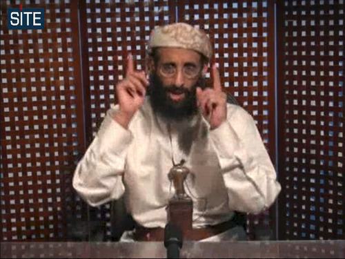 FILE - In this Nov. 8, 2010 file image taken from video and released by SITE Intelligence Group on Monday, Anwar al-Awlaki speaks in a video message posted on radical websites. A senior U.S. counterterrorism official says U.S. intelligence indicates that U.S.-born al-Qaida cleric Anwar al-Awlaki has been killed in Yemen. (AP Photo/SITE Intelligence Group, File) NO SALES