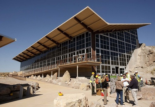 Trent Nelson  |  The Salt Lake Tribune The quarry building at Dinosaur National Monument, Utah, Wednesday, September 28, 2011. The new building is set to reopen on Tuesday after a long remodel.