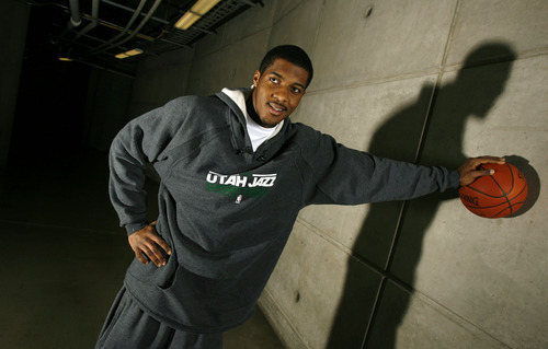 Francisco Kjolseth  |  The Salt Lake Tribune Jazz forward Derrick Favors has been working hard in the offseason, bulking up and improving his basketball skills. He vows to be ready when the NBA lockout ends.