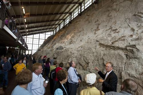 Foyer Museum Utah : Utah dinosaur quarry opens to visitors again the salt