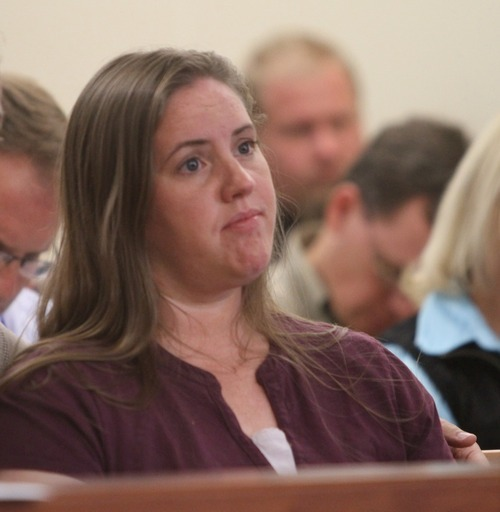 Rick Egan I The Salt Lake Tribune Jennifer Graves, estranged sister of Josh Powell, sits in the courtroom during a shelter care hearing at the Pierce County Superior Court house in Tacoma, Wash.
