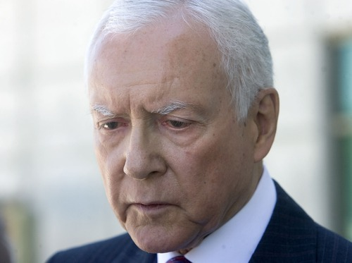 Tribune File Photo Utah Sen. Orrin Hatch, R-Utah, predicts that the Occupy movement protests nationally will erupt into violence. Movement organizers have promised peaceful demonstrations.