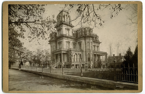 Tribune file photo  This undated photo shows one of Brigham Young's homes in Salt Lake City. The house was known as Amelia's Palace and also as the Gardo House.