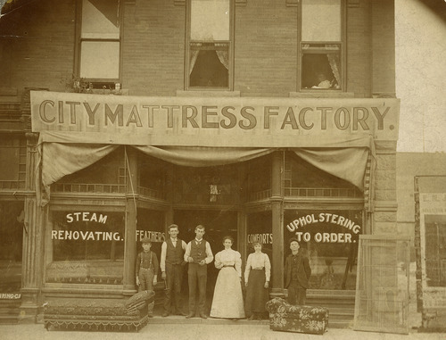 Tribune file photo  This undated photo shows the City Mattress factory that was at 400 S Main Street in Salt Lake City.