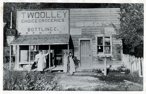 Tribune file photo  This 1897 photo shows the Tom Wooley Choice Groceries store at 1400 South State Street. According to a 1948 article on the store, it was open for about 10 years.