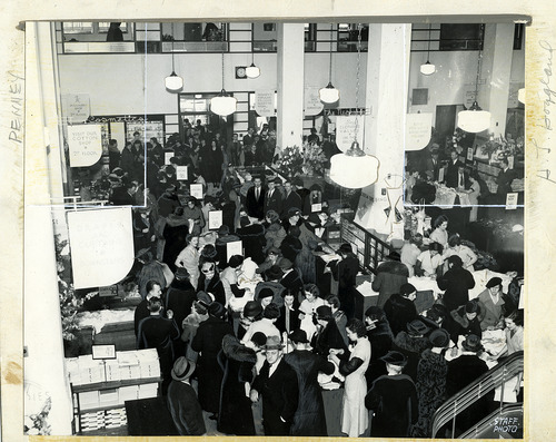 Tribune file photo  This 1936 photo shows shoppers at the grand opening of a J.C. Penneys store at 200 South Main in Salt Lake City.