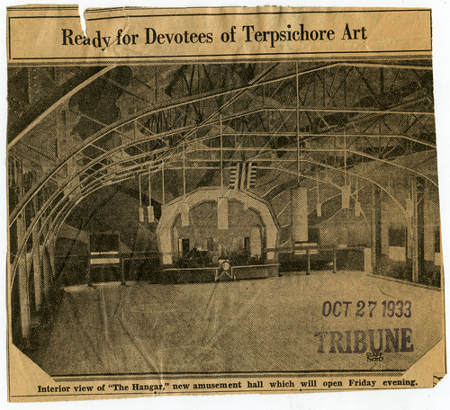 Tribune file photo  This 1933 newspaper clipping shows the interior of The Hangar dance club in Salt Lake City.