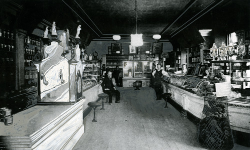 Tribune file photo  This undated photo shows the interior of the Godbe Pitts Drug Company in Salt Lake City.