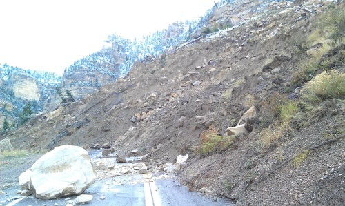 Utah Department of Transportation | Courtesy photo About 800 feet of SR 14 in Iron County was covered by a landslide Saturday.