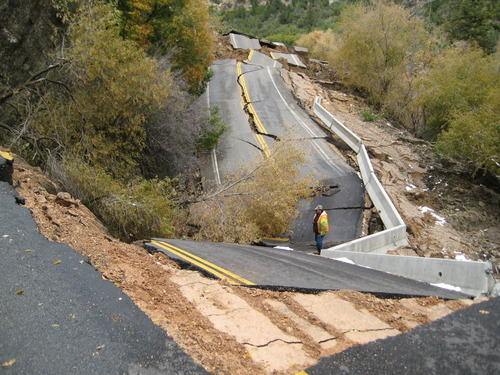 Massive Slide Near Cedar City To Be Assessed From The Air The Salt