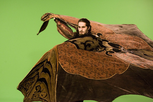 Paul Fraughton | The Salt Lake Tribune Dancer Beau Pearson spreads his cape for the camera  at  a photo shoot for a commercial for Ballet West's new production of