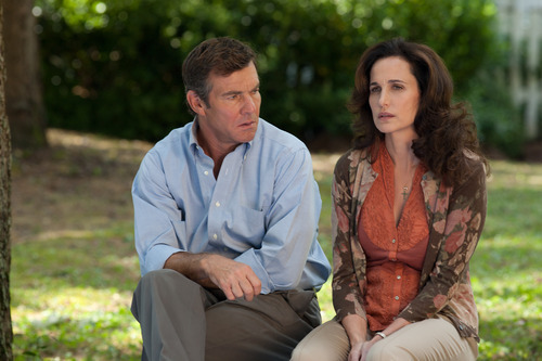 In this image released by Paramount Pictures,  Dennis Quaid, left, and Andie MacDowell are shown in a scene from