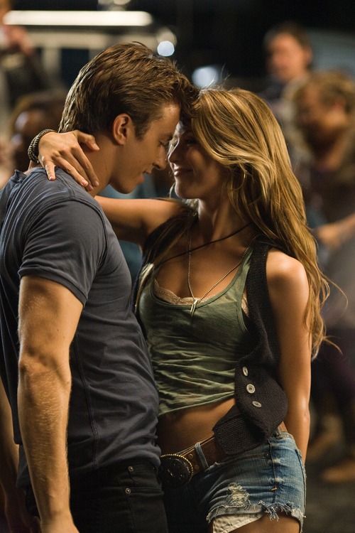 In this image released by Paramount Pictures, Kenny Wormald, left, and Julianne Hough are shown in a scene from