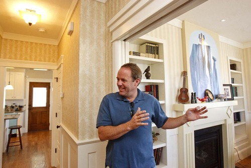 Trent Nelson  |  The Salt Lake Tribune Blair Bangerter, builder of the Up house, modeled after the home from the Pixar film