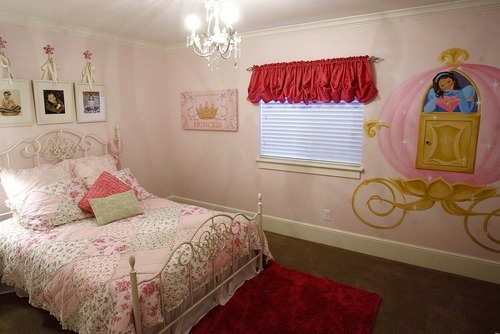 Trent Nelson  |  The Salt Lake Tribune A girl's room inside the Up house, modeled after the home from the Pixar film