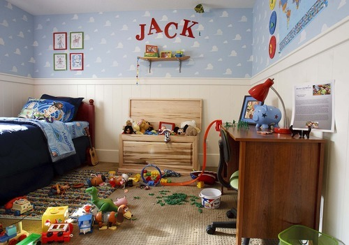 Trent Nelson  |  The Salt Lake Tribune A boy's room inside the Up house, modeled after the home from the Pixar film