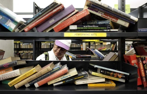 Trent Nelson  |  The Salt Lake Tribune The volunteer group Friends of the Library, continuing its used-book sale fundraiser Tuesday, is