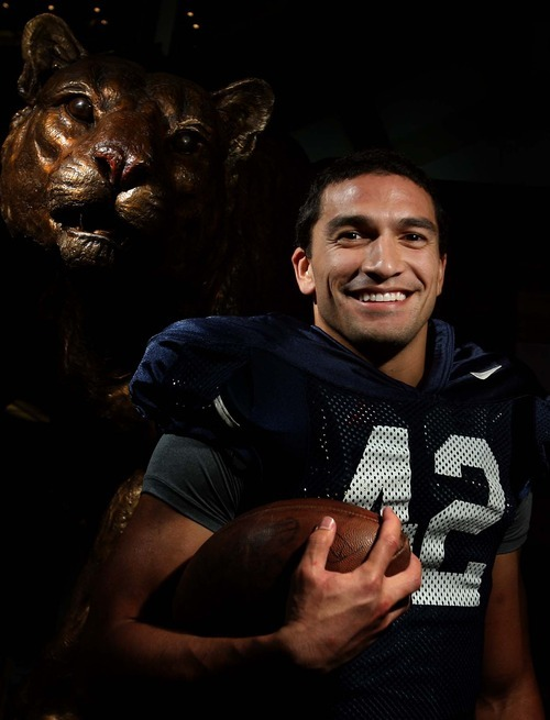 Leah Hogsten   The Salt Lake Tribune BYU running back Michael Alisa Tuesday, October 18 2011. In the last couple of weeks, he has come from the shadows and become the Cougars' best running back.
