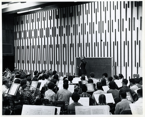 Tribune file photo  Music students rehearse in BYU's orchestra room in 1965.