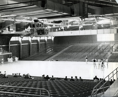 Tribune file photo  People play basketball at the Smith Fieldhouse at BYU in 1951.