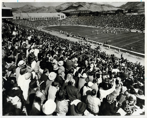 Tribune file photo  Fans watch a football game at the University of Utah in this undated photo.
