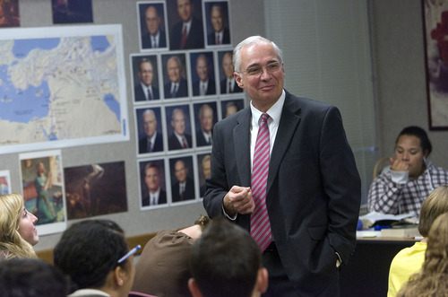 Al Hartmann     The Salt Lake Tribune Richard Scoville, 60, teaches an LDS Seminary Class on the Old Testament at Copper Hills High School in West Jordan on Wednesday. He was recently diagnosed and treated for prostate cancer thanks to a PSA test that his primary care provider suggested was overdue. He wishes now he hadn't waited so long to do the $94 blood draw, and he takes issue with a government panel's new guidelines advising men to avoid PSA's.