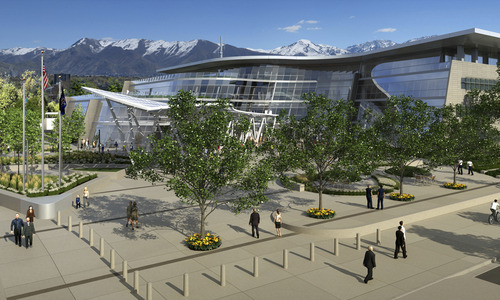 Computer rendition of the new Salt Lake City Public Safety Building currently under construction. Courtesy image