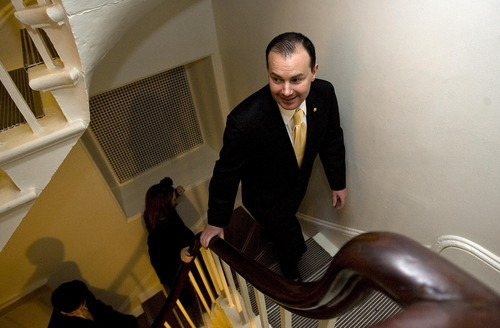 Djamila Grossman  |  Tribune File Photo  Sen. Mike Lee, R-Utah, is seeking permission to begin his own super PAC. Such a committee would allow him to raise and spend unlimited contributions to support other politicians or oppose political foes.