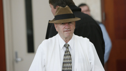 Francisco Kjolseth  |  Salt Lake Tribune file photo Wendell Nielsen, former president of the FLDS church, attends a 2010 hearing before the Utah Supreme Court.