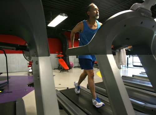 Steve Griffin  |  The Salt Lake Tribune The Episcopal Diocese in Utah is tackling obesity, encouraging members to bring healthier food to potlucks, grow gardens, use smaller plates. Bishop Scott Hayashi is also leading by example. He wants to run a marathon next year and here runs on a treadmill at Xcel fitness in Salt Lake City.