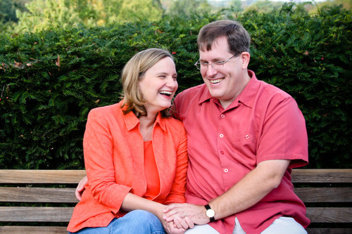 Courtesy photo Jana Riess, Mormon convert, with her husband, Phil Smith, who attends an Episcopal Church. Smith says his wife
