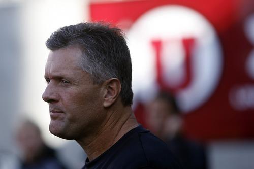 Chris Detrick  |  The Salt Lake Tribune Utah Utes head coach Kyle Whittingham before the game at Rice-Eccles Stadium Saturday October 29, 2011.