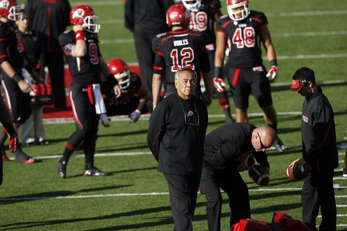 Chris Detrick  |  The Salt Lake Tribune Offensive Coordinator Norm Chow before the game at Rice-Eccles Stadium Saturday October 29, 2011.