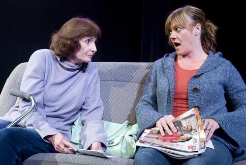 Rick Egan  | The Salt Lake Tribune  Barbara Smith and Jeanette Puhich rehearse
