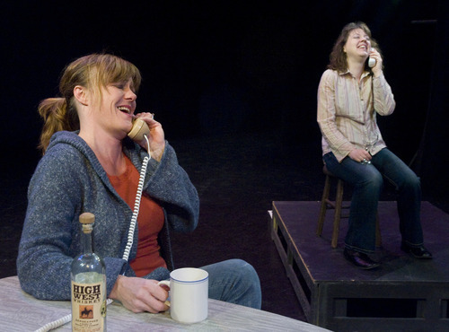 Rick Egan  | The Salt Lake Tribune Jeanette Puhich, left, plays Dot and Holly Fowers is Sis as they rehearse