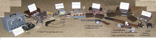 Courtesy photo The line of video game conosole prototypes by Ralph Baer that led to the Magnavox Odyssey, the very first home video game console.
