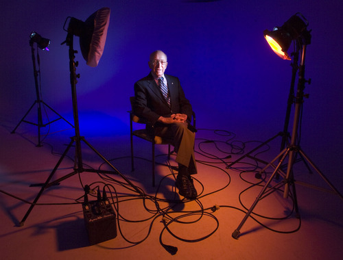 Steve Griffin  |  The Salt Lake Tribune Ralph Baer, who is known as the Father of Video Games, created the first video game console in the 1960s.