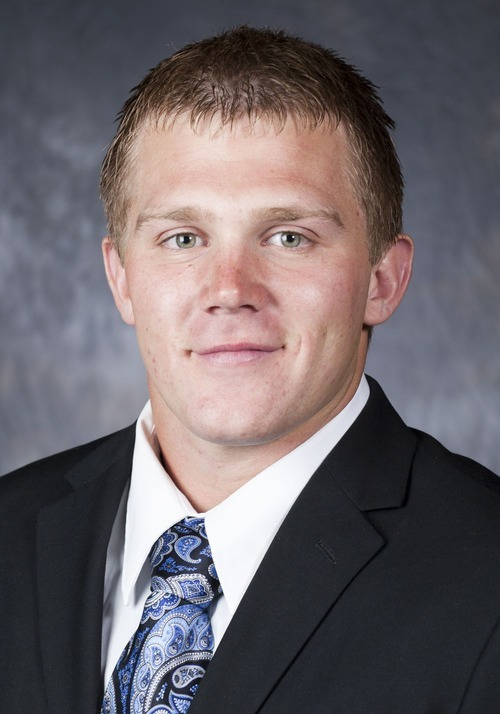 2011 BYU Football Photoday - Coat and Tie Falslev, JD 01  August 11, 2011  Photo by Elisa Tittle/BYU © BYU PHOTO 2011 All Rights Reserved photo@byu.edu  (801)422-7322