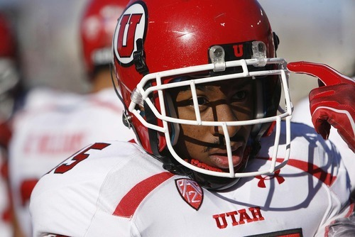 Trent Nelson  |  The Salt Lake Tribune Utah running back John White warms up pregame as Utah faces Arizona, college football at Arizona Stadium in Tucson, Arizona, Saturday, November 5, 2011.